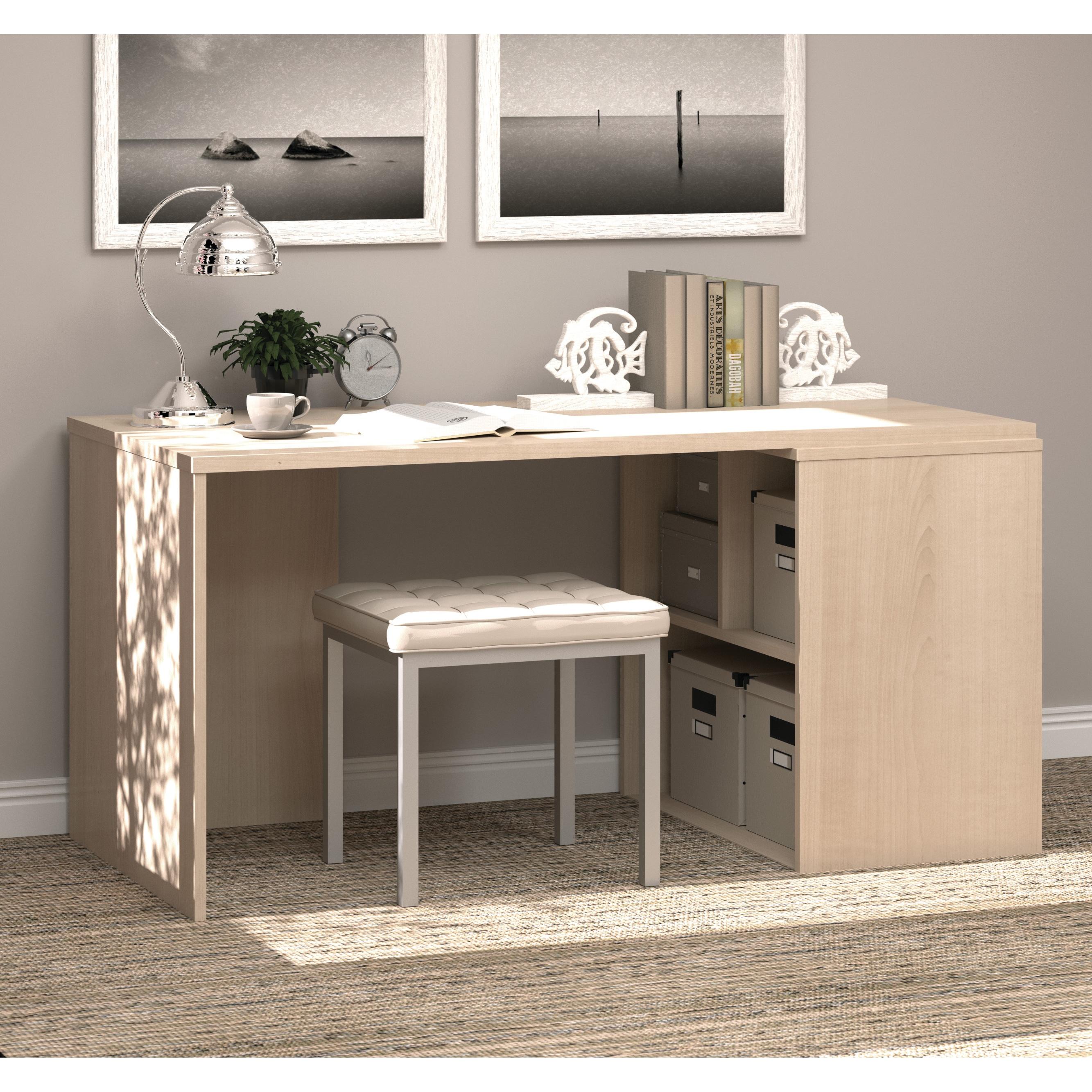 i45 by Bestar Hidden Storage Workstation Desk