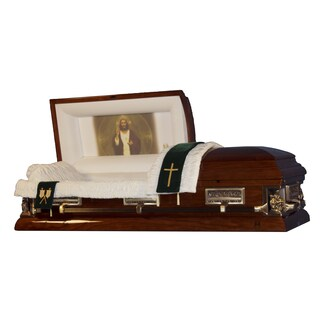 The Official Vatican Foundation Sacred Heart II Walnut Poplar Casket