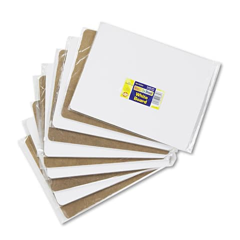 Chenille Kraft White 12 x 9 Unruled Student Dry-Erase Board (Set of 10)