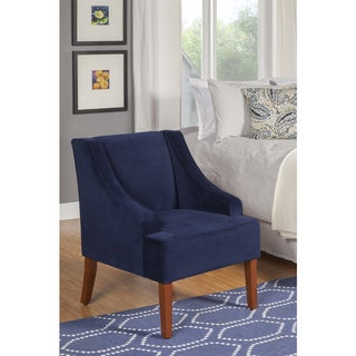 Link to Porch & Den Lyric Navy Velvet Swoop Arm Accent Chair Similar Items in Living Room Chairs