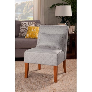 HomePop Dark Platinum Slipper Accent Chair