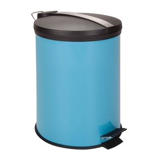 12-Liter Round Step Can, Blue (Alternate lid)