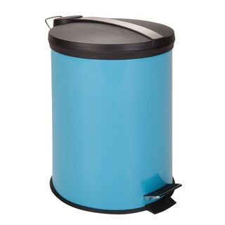 Honey-Can-Do 12-Liter Round Step Can, Blue (Alternate lid)