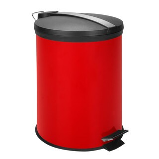 Honey-Can-Do 12-Liter Round Step Can, Red (Alternate lid)