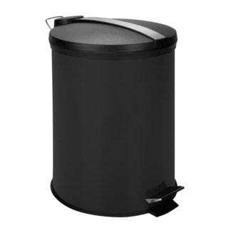 12-Liter Round Step Can, Black (Alternate lid)