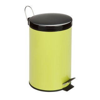 12-Liter Round Step Can, Lime Green