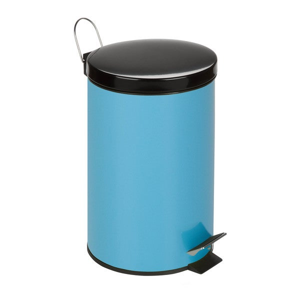 Honey-Can-Do 12-Liter Round Step Can, Blue