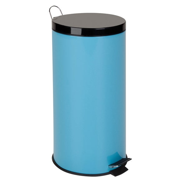 Honey-Can-Do 30-Liter Round Step Can, Robins Egg