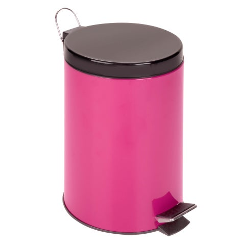 Honey-Can-Do 12-Liter Round Step Can, Magenta