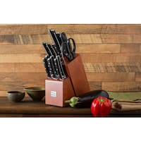 Chicago Cutlery Damen 14-piece Block Set - Brown