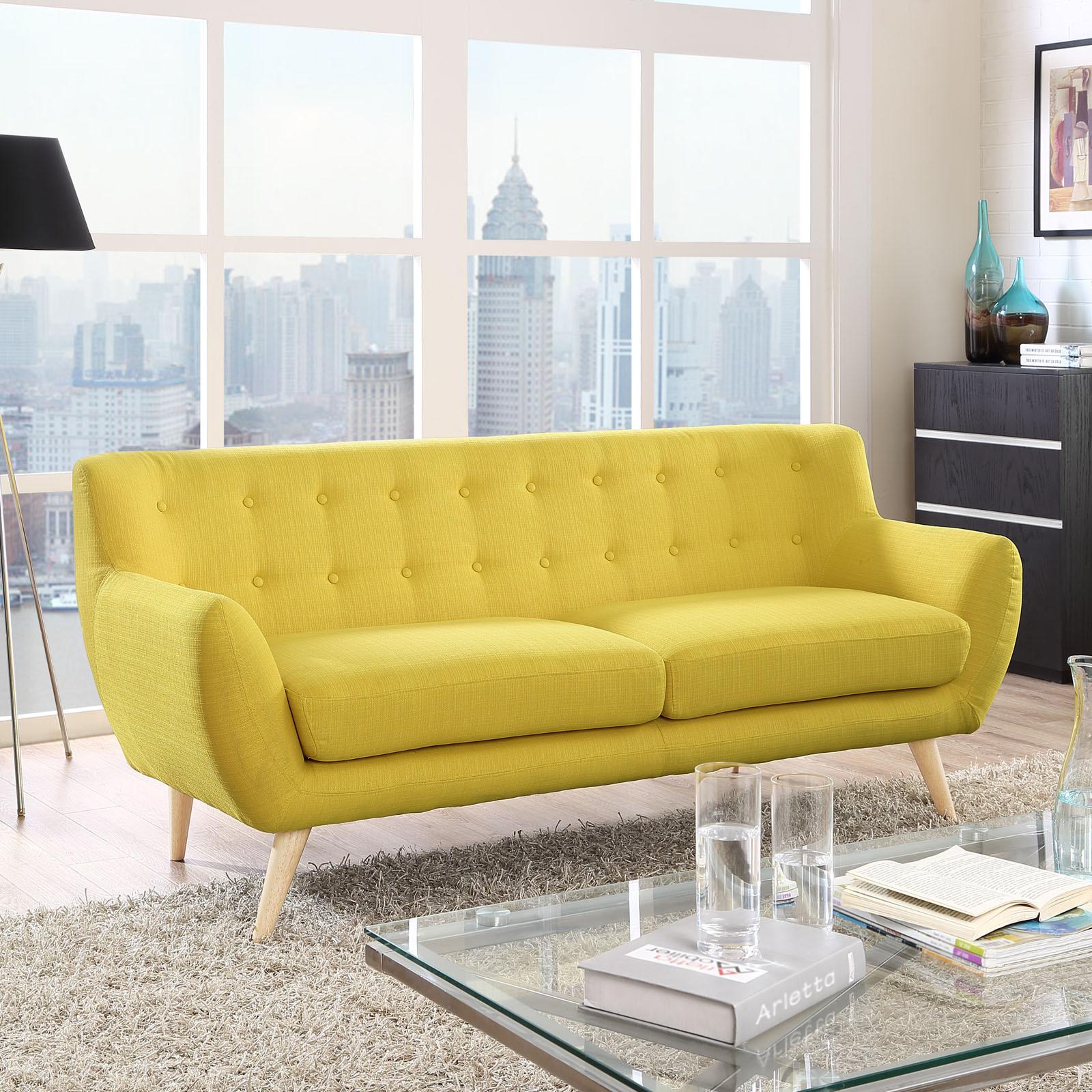 Carson Carrington Brandbu Button-tufted Mid-century Modern Sofa