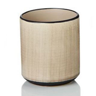 Tan Ceramic Round Pot