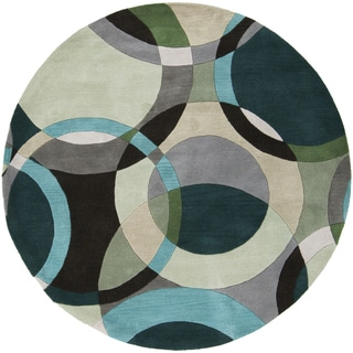 Hand-Tufted Brantford Geometric Indoor Rug (4' Round)