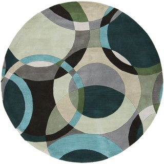 Carson Carrington Taby Hand-Tufted Geometric Indoor Area Rug (4' Round)