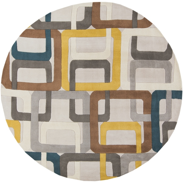 Palm Canyon Ashby Hand-tufted Geometric Indoor Area Rug - 8' Round