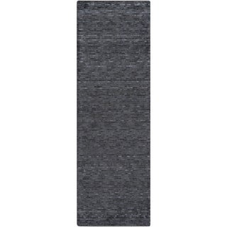 Hand-Woven Bowmont Solid Indoor Rug (2'6 x 8')