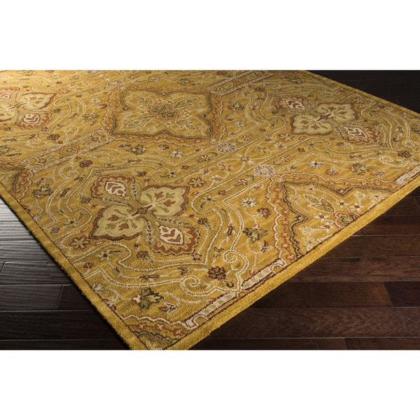 Hand-Tufted Leithen Traditional Wool Area Rug (8' x 10')