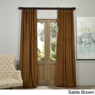 Exclusive Fabrics Signature Velvet 96-inch Blackout Curtain Panel - 50 X 96