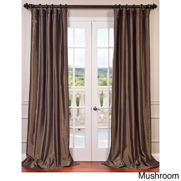 Exclusive Fabrics Faux Silk Taffeta 108 Inch Blackout Curtain Panel 50 X