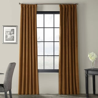 Link to Exclusive Fabrics Signature Velvet 84-inch Blackout Curtain Panel Similar Items in As Is