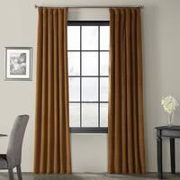 Exclusive Fabrics Signature Velvet 84-inch Blackout Curtain Panel