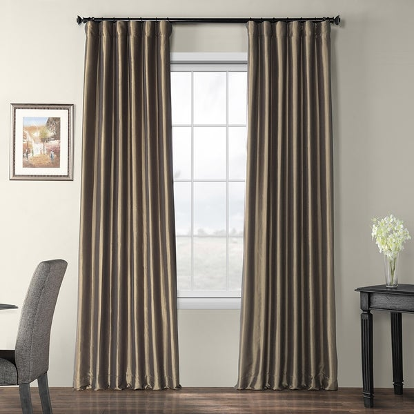 Exclusive Fabrics Faux Silk Taffeta 96-inch Blackout Curtain Panel