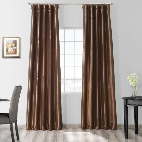 Exclusive Fabrics Faux Silk Taffeta 96-inch Blackout Curtain Panel. Opens flyout.
