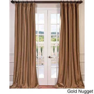 Exclusive Fabrics Faux Silk Taffeta 96-inch Blackout Curtain Panel