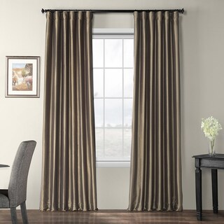 Exclusive Fabrics Faux Silk Taffeta 96-inch Blackout Curtain Panel - 50 x 96