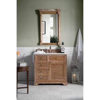 James Martin Furniture Savannah 36-inch Driftwood Single Vanity with Marble Top|https://ak1.ostkcdn.com/images/products/9740174/P16914444.jpg?impolicy=medium