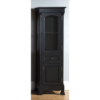 Attirant James Martin Brookfield Antique Black Linen Cabinet