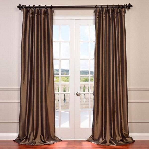 Exclusive Fabrics Faux Silk Taffeta 84-inch Blackout Curtain Panel