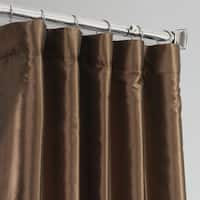Exclusive Fabrics Faux Silk Taffeta 84-inch Blackout Curtain Panel