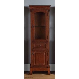 James Martin Brookfield Linen Cabinet, Warm Cherry - Warm Cherry