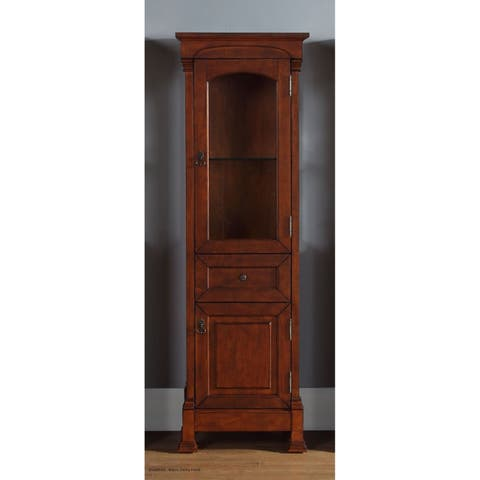James Martin Brookfield Linen Cabinet, Warm Cherry - Warm Cherry