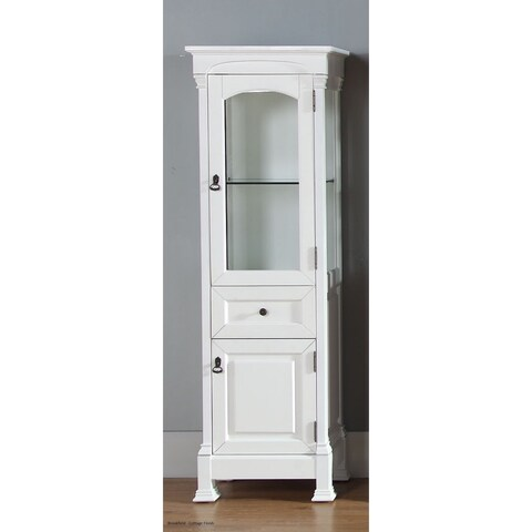 James Martin Brookfield Linen Cabinet, Cottage White - Cottage White