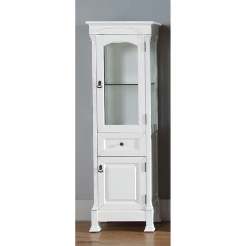 James Martin Brookfield Linen Cabinet, Cottage White - Cottage White