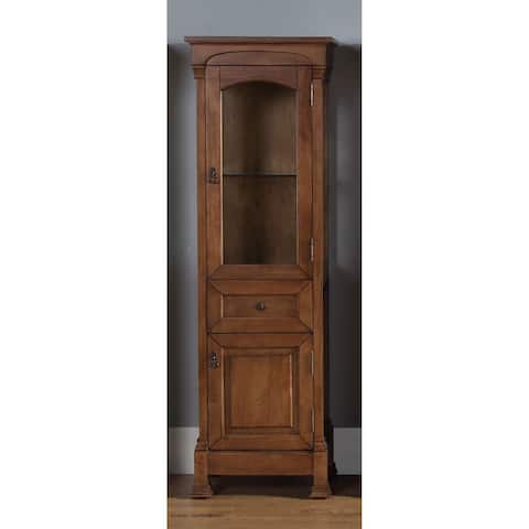 James Martin Brookfield Linen Cabinet, Country Oak - country oak