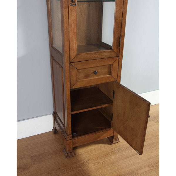 Brookfield Burnished Mahogany Linen Cabinet - Free Shipping Today ...