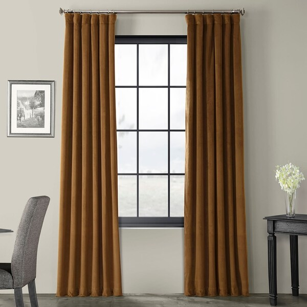 Exclusive Fabrics Signature Velvet 120-inch Blackout Curtain Panel (As Is Item). Opens flyout.