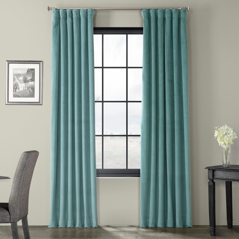 Exclusive Fabrics Signature Velvet 120 Inch Blackout Curtain Panel Overstock 9740196
