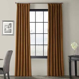 Exclusive Fabrics Signature Velvet 120-inch Blackout Curtain Panel