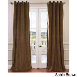 EFF Signature Velvet Grommet 108-inch Blackout Curtain Panel - 50 x 108