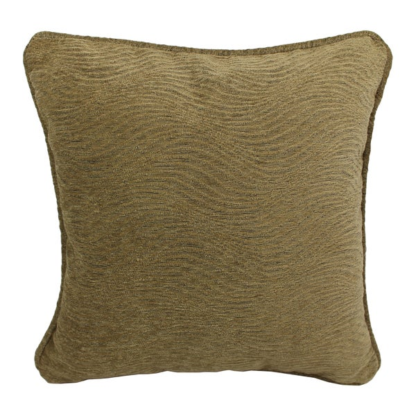 Blazing Needles 18-inch 'Champagne' Jacquard Chenille Square Throw Pillow with Insert