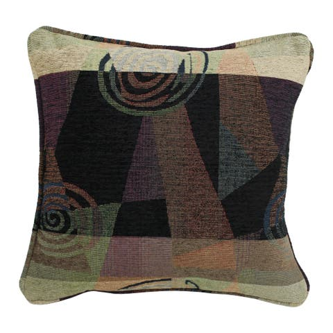 Blazing Needles 18-inch 'Dark Side of the Moon' Chenille Throw Pillow