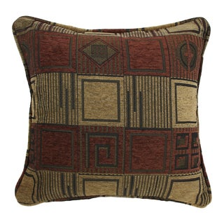 Blazing Needles 18-inch 'Manhattan' Jacquard Chenille Square Throw Pillow with Insert