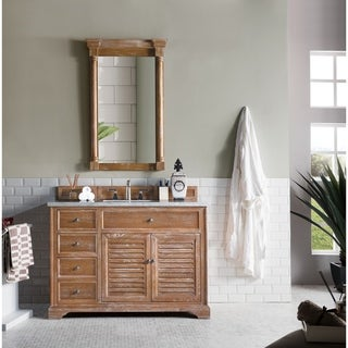 "Savannah 48"" Single Vanity Cabinet, Driftwood"