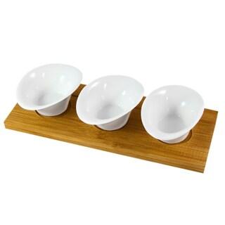 IMPULSE! Jakarta White porcelain Snack Set