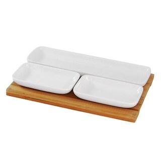 IMPULSE! Fonda White Porcelain Snack Set