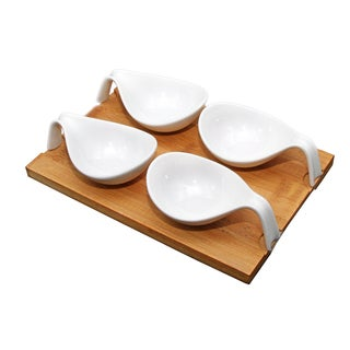 IMPULSE! Bilbao White Porcelain Snack Set